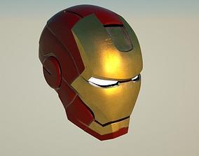 Iron Man Helmet 3D asset