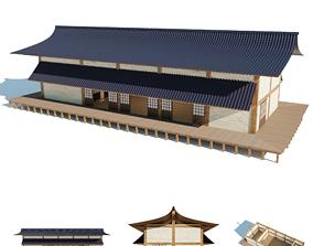 3D model Japanese freestanding dojo