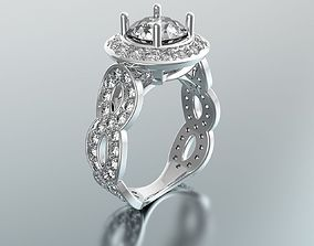 Diamond Ring 3D print model diamond cuts