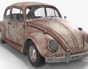 Volkswagen fusca Rusty 3D