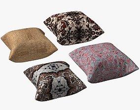 3D asset Four Pillows