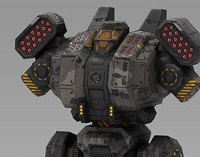 Spartan BattleMech 3D asset