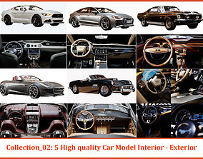 Collection N02- 5 High quality Car Model Interior - 3D
