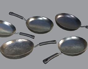 Kitchen Pans PBR 3D asset