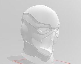 3D print model Injustice 2 inspired Flash Cowl Mask