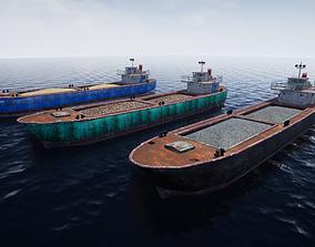 3D model Rusty Barge