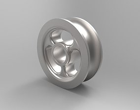 3D model low-poly Pulley