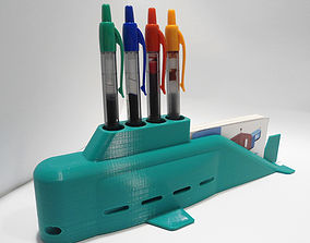 3D print model Submarine Pens and Business Cards Holder