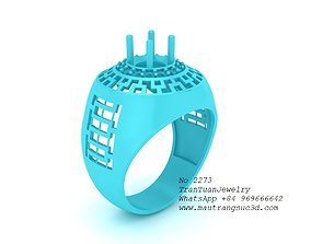 3D print model 2273 Diamond Ring For men