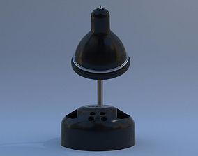 3D model Rigged Lamp - Black