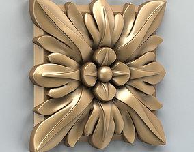 3D model Square rosette 006