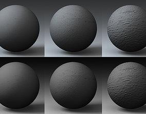 3D model Displacement Landscape Shader 034