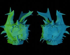 beast Dragon Head 3D model
