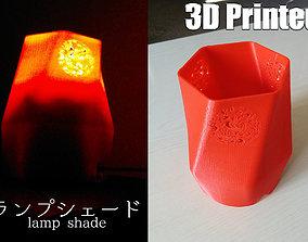 Lamp shade lighting 3D printable model