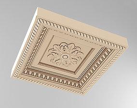 Decorative Ceiling Tile Rosette 3D model