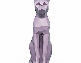 3D model Cat Low Poly 9