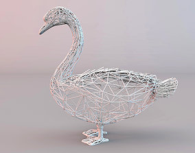 SWAN WIRE FRAME 3D asset game-ready