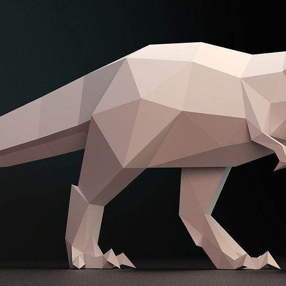 T_rex low poly