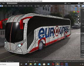 3D Eurolines Bus Coach DiiNBUS Blender Native