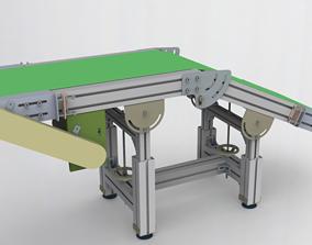 3D model Height and Angle adjustable conveyor