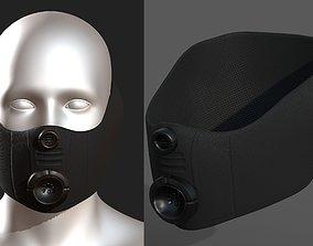 realtime Gas mask helmet 3d model scifi 1