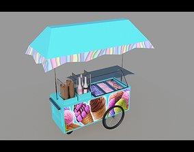 3D model game-ready ice-cream shop