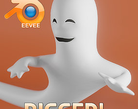 3D asset Toon Ghost Rigged