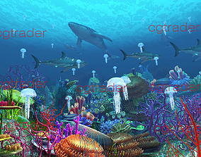 Undersea World Animation Model 3D asset