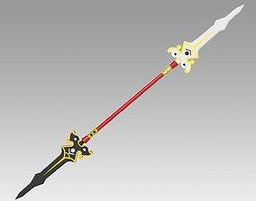 3D printable model Elsword Ara Haan Spear Cosplay Weapon