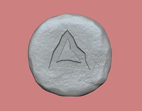 3D printable model Lava Rune - Runescape - STL Keychain
