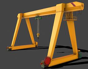 3D model PBR Single Girder Gantry Crane V1 -
