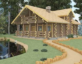 Log home 3D model