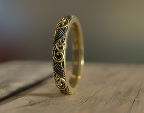 3D printable model Carved design band