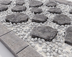 Stone mound with slabs 3D model
