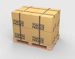 3D model Pallet Boxes