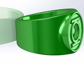 3D printable model Green Lattern Ring