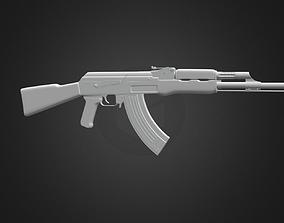 3D model gulf AK-47