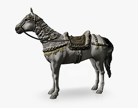 3D model White horse with armor