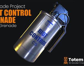 Tear Gas Grenade Riot Control 3D model