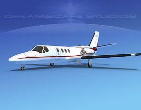 3D Cessna 500 Citation I V01