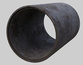 3D model Concrete Pipe 1B