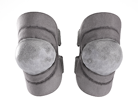 Military black knee pads 3D asset