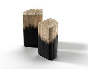 Stump Side Table 3D