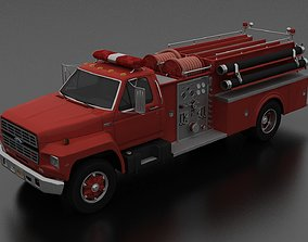 F-Series F-800 FireTruck Unmarked 1985 3D model
