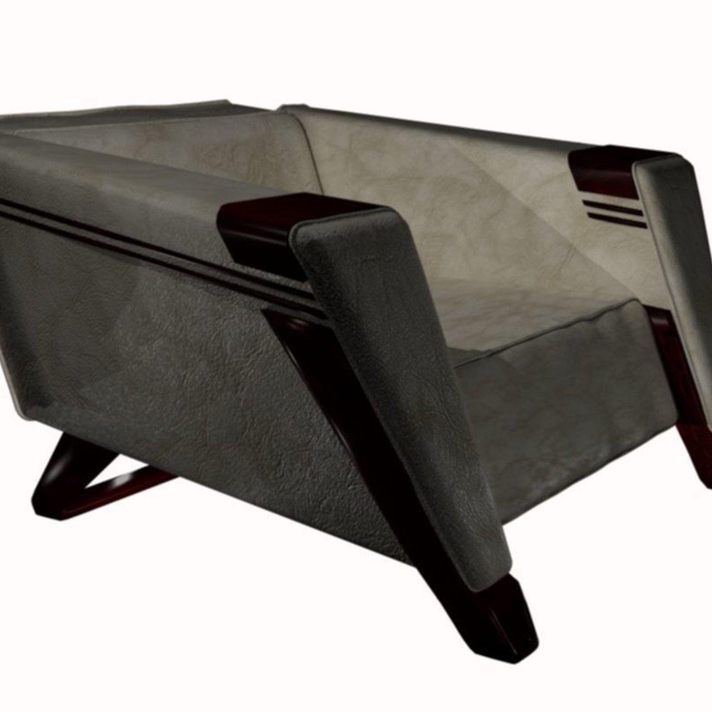 Club chair design 2