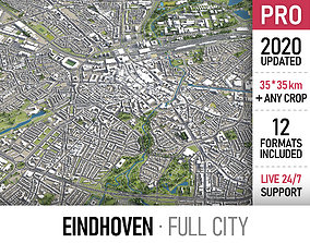 Eindhoven - city and surroundings 3D asset VR / AR ready