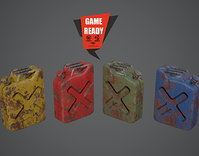 3D asset Canister PBR Game Ready Low Poly