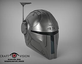 3D printable model knight Mandalorian Helmet