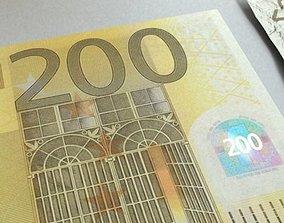 3D model 200 euro Banknote