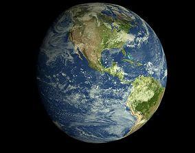 animated Animated Realistic HD Earth Model
